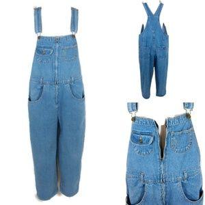 Jordache Vintage 80's Zip Front Denim Overalls